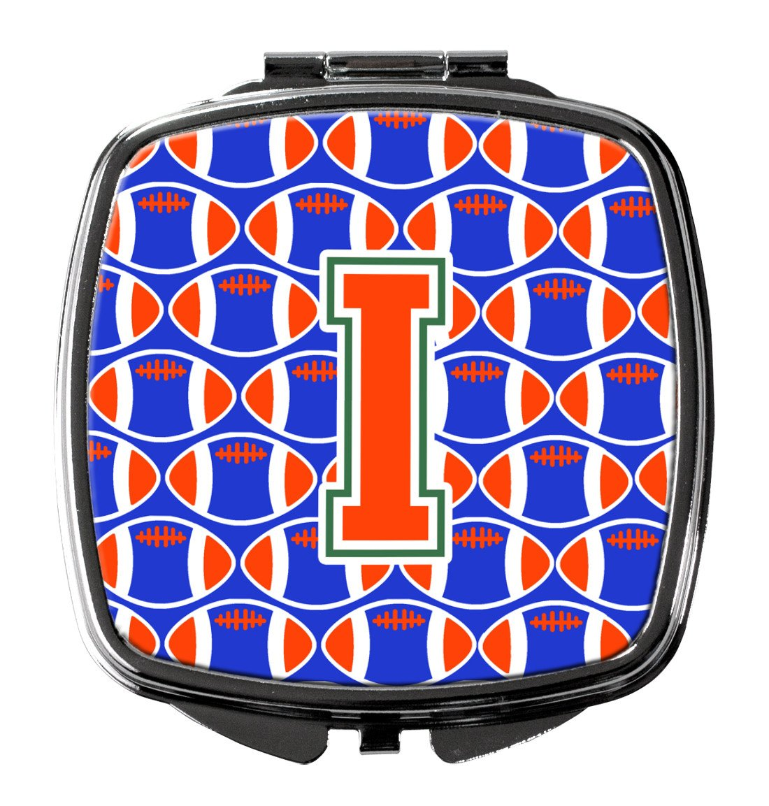 Buy this Letter I Football Green, Blue and Orange Compact Mirror CJ1083-ISCM