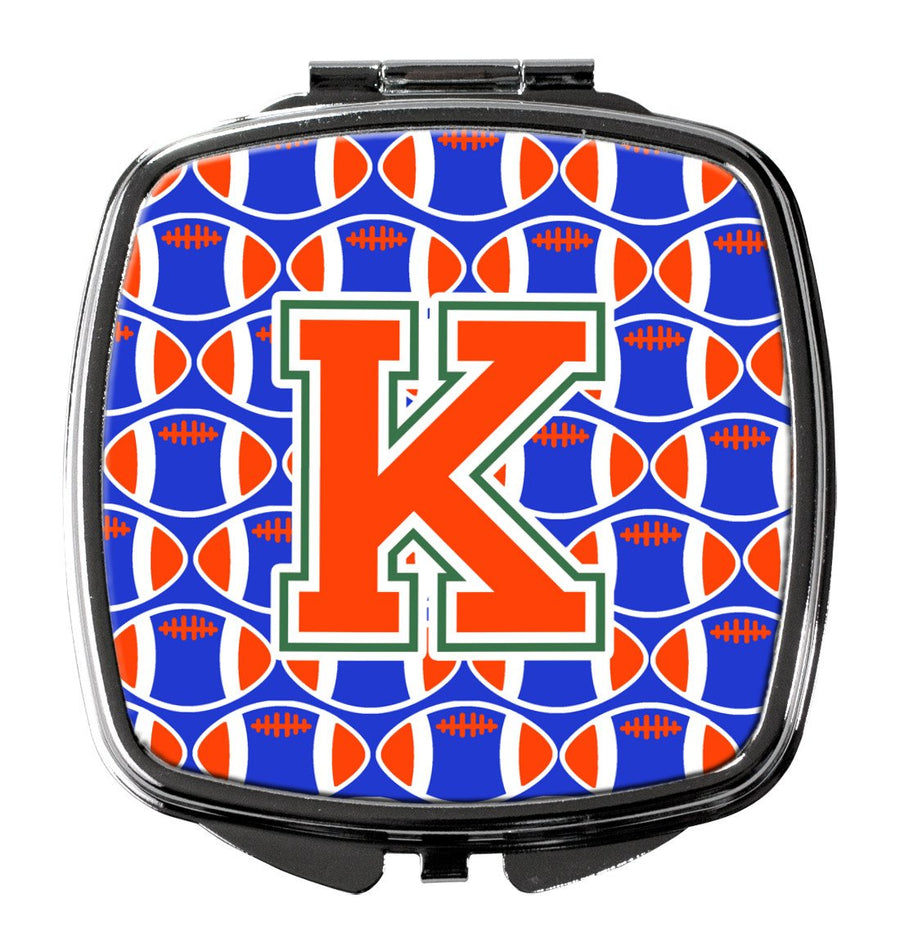Buy this Letter K Football Green, Blue and Orange Compact Mirror CJ1083-KSCM