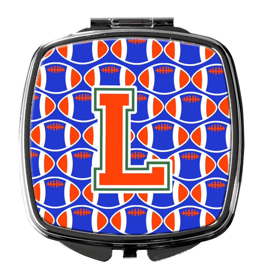 Buy this Letter L Football Green, Blue and Orange Compact Mirror CJ1083-LSCM