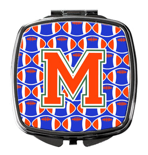 Buy this Letter M Football Green, Blue and Orange Compact Mirror CJ1083-MSCM
