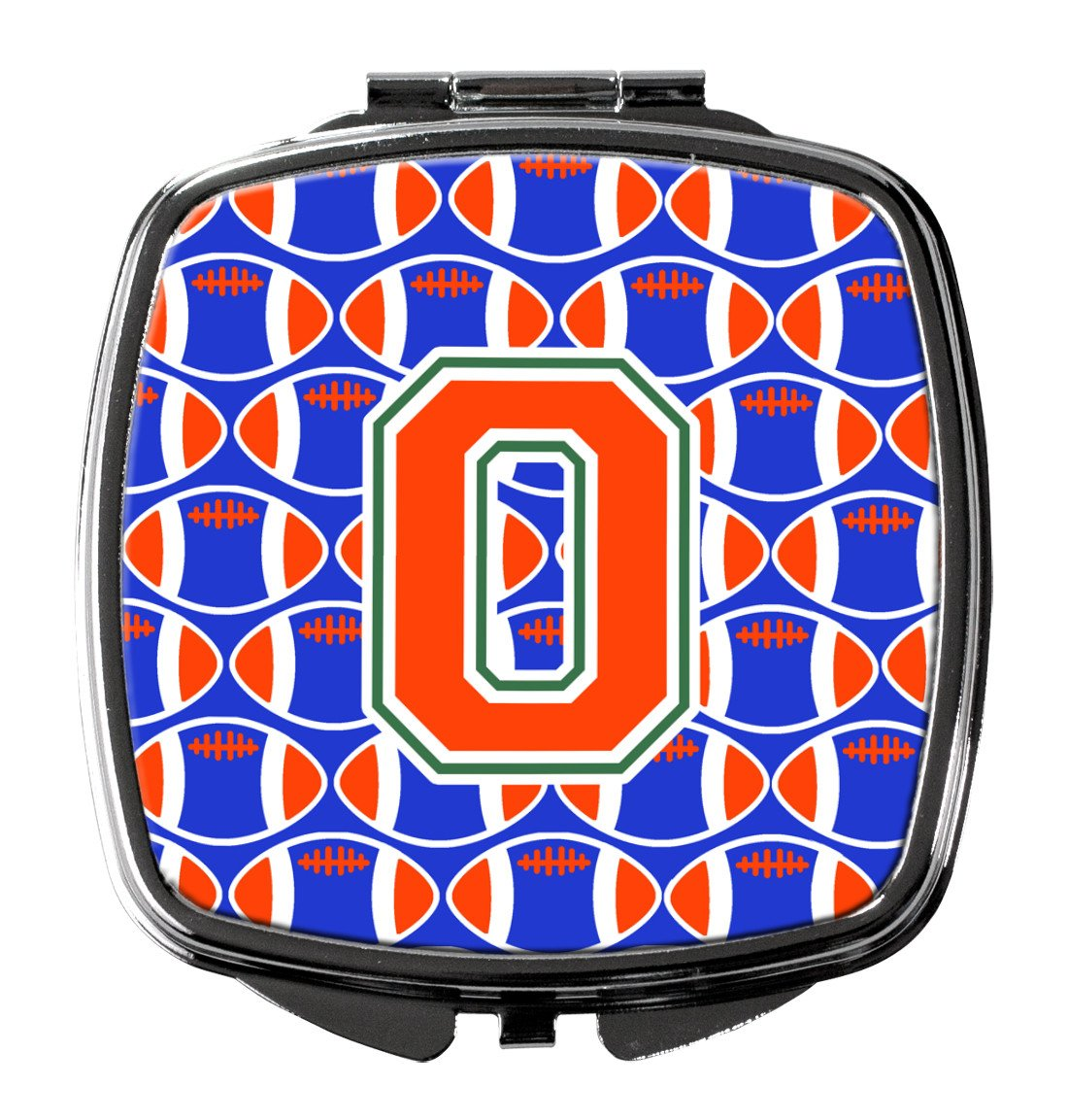 Buy this Letter O Football Green, Blue and Orange Compact Mirror CJ1083-OSCM