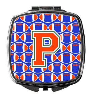 Buy this Letter P Football Green, Blue and Orange Compact Mirror CJ1083-PSCM
