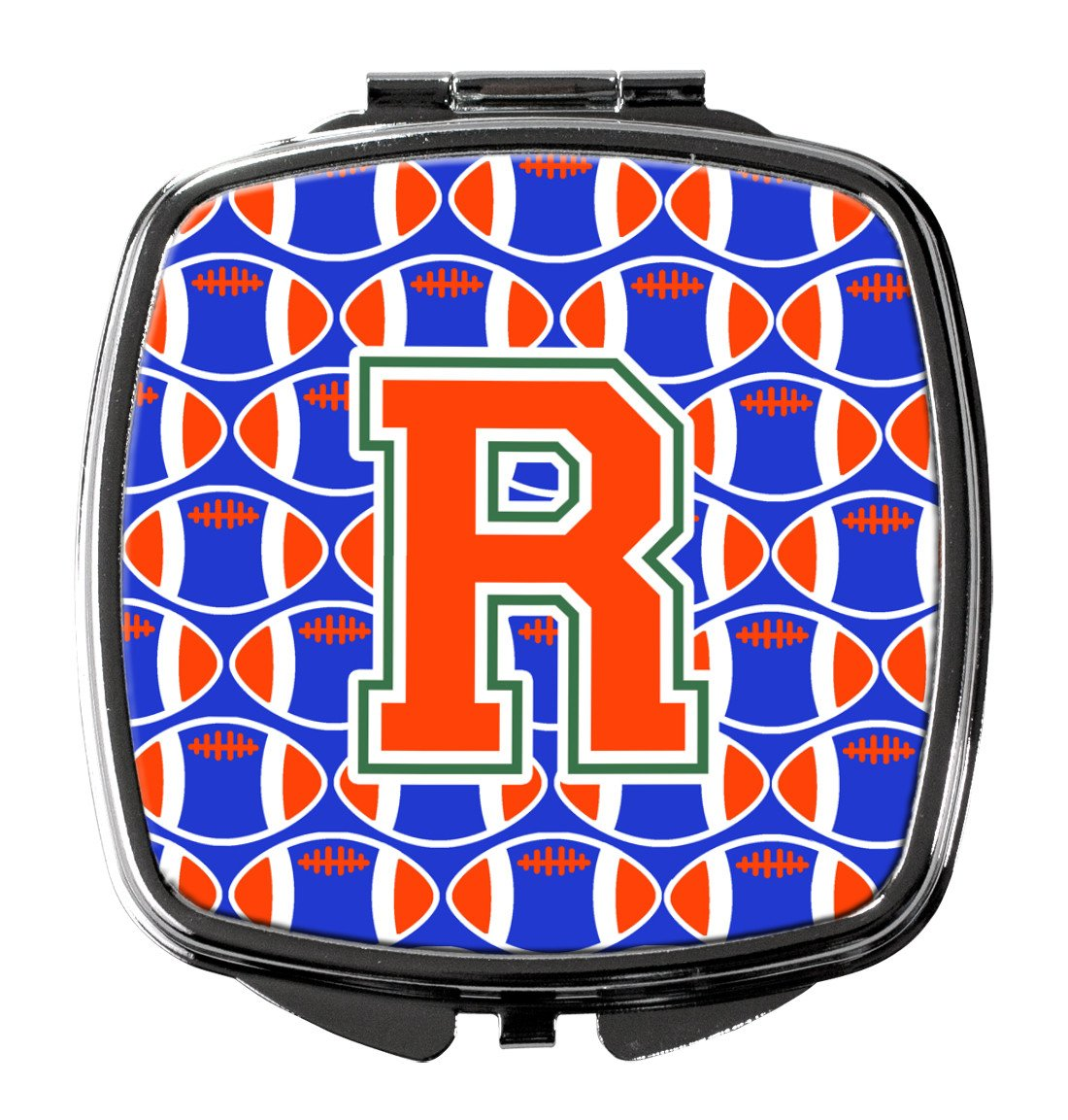 Buy this Letter R Football Green, Blue and Orange Compact Mirror CJ1083-RSCM