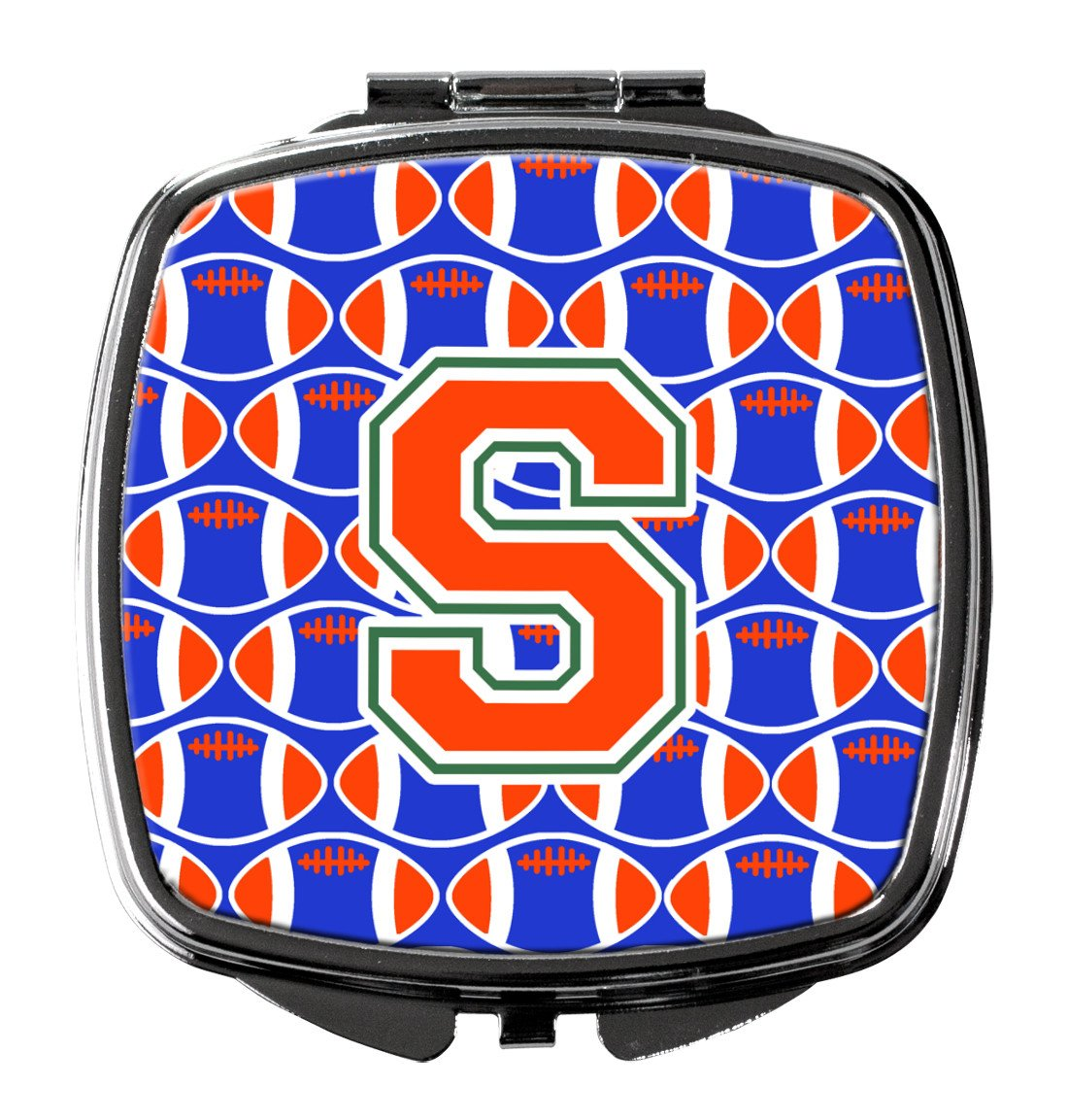 Buy this Letter S Football Green, Blue and Orange Compact Mirror CJ1083-SSCM