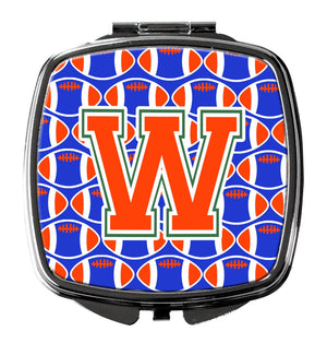 Buy this Letter W Football Green, Blue and Orange Compact Mirror CJ1083-WSCM