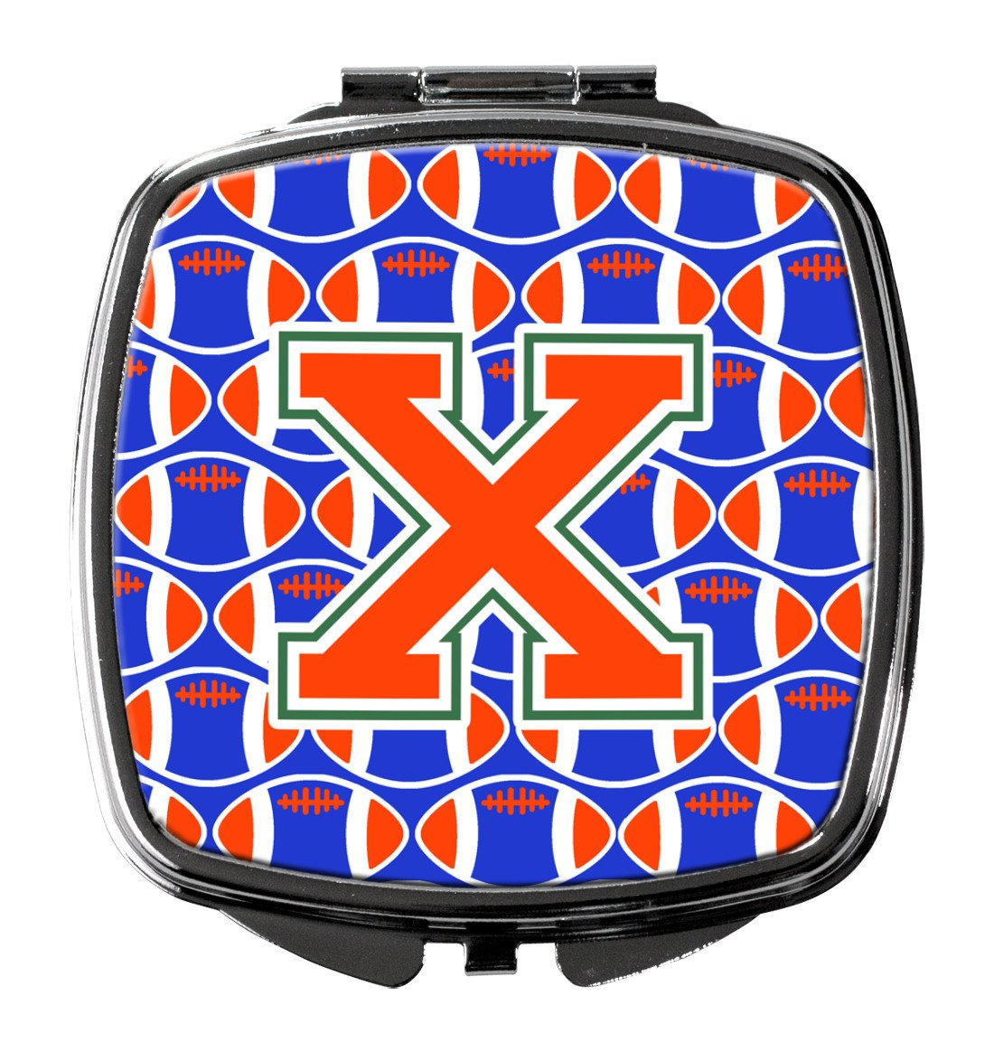 Buy this Letter X Football Green, Blue and Orange Compact Mirror CJ1083-XSCM