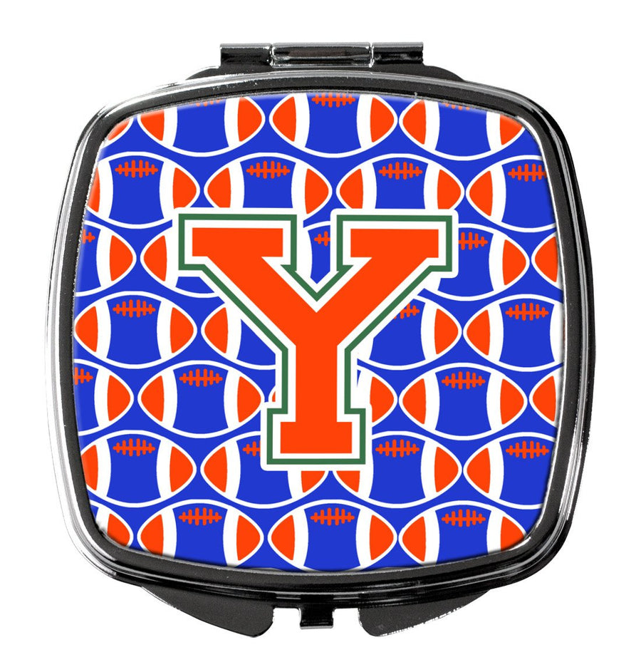 Buy this Letter Y Football Green, Blue and Orange Compact Mirror CJ1083-YSCM