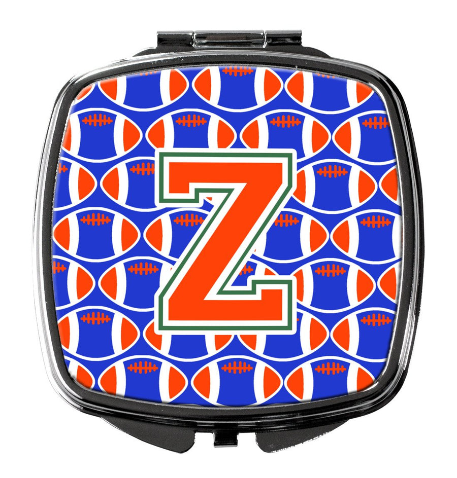 Buy this Letter Z Football Green, Blue and Orange Compact Mirror CJ1083-ZSCM