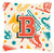 Buy this Letter B Retro Teal Orange Musical Instruments Initial Canvas Fabric Decorative Pillow