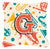 Buy this Letter G Retro Teal Orange Musical Instruments Initial Canvas Fabric Decorative Pillow