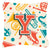 Buy this Letter Y Retro Teal Orange Musical Instruments Initial Canvas Fabric Decorative Pillow