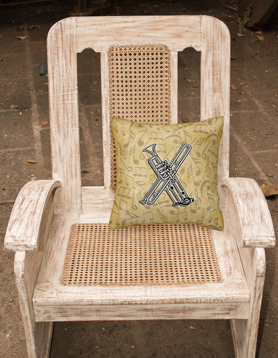 Letter X Musical Instrument Alphabet Canvas Fabric Decorative Pillow CJ2004-XPW1414