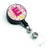 Letter E Flowers and Butterflies Pink Retractable Badge Reel CJ2005-EBR by Caroline's Treasures