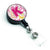 Letter K Flowers and Butterflies Pink Retractable Badge Reel CJ2005-KBR by Caroline's Treasures