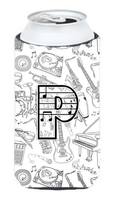 Letter P Musical Note Letters Tall Boy Beverage Insulator Hugger CJ2007-PTBC by Caroline's Treasures