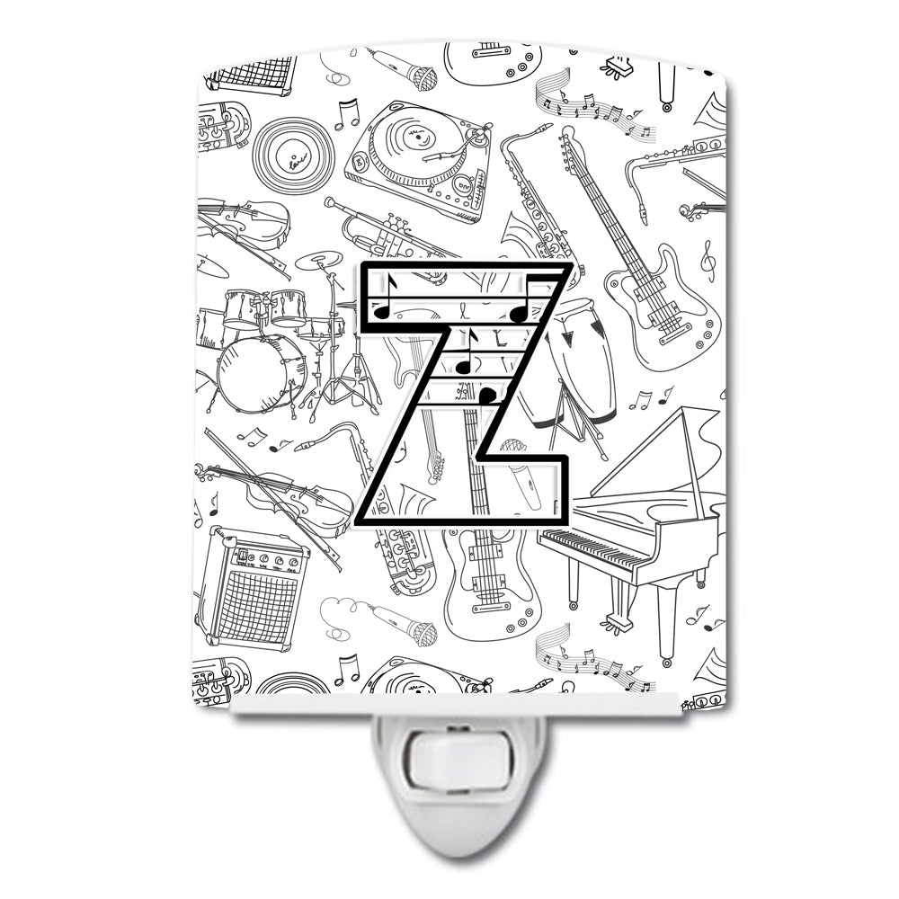 Buy this Letter Z Musical Note Letters Ceramic Night Light CJ2007-ZCNL