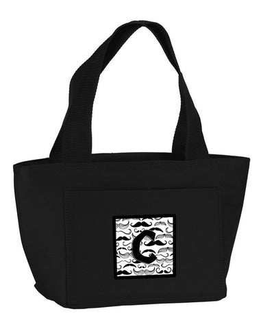 Buy this Letter C Moustache Initial Lunch Bag CJ2009-CBK-8808