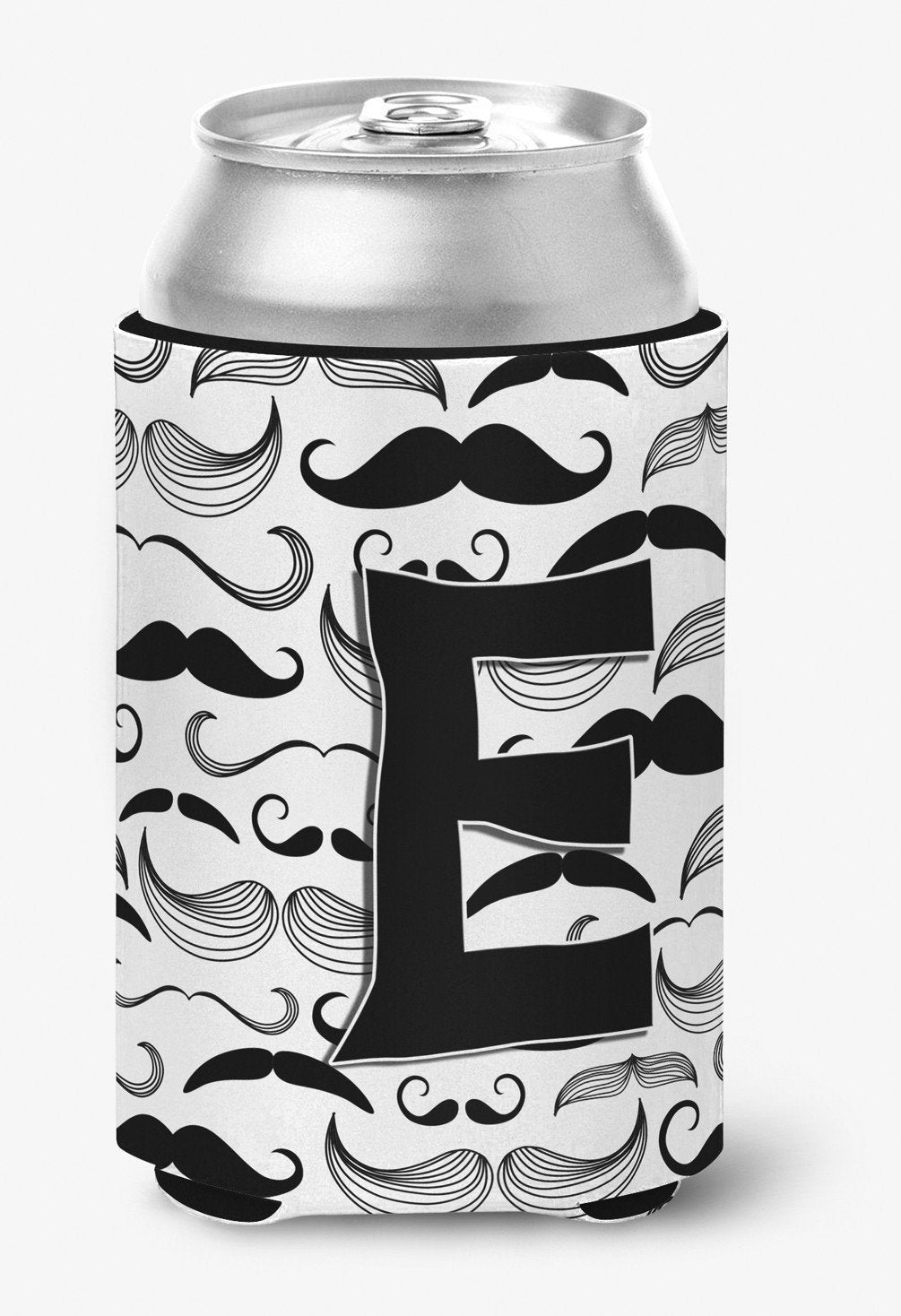 Letter E Moustache Initial Can or Bottle Hugger CJ2009-ECC by Caroline's Treasures