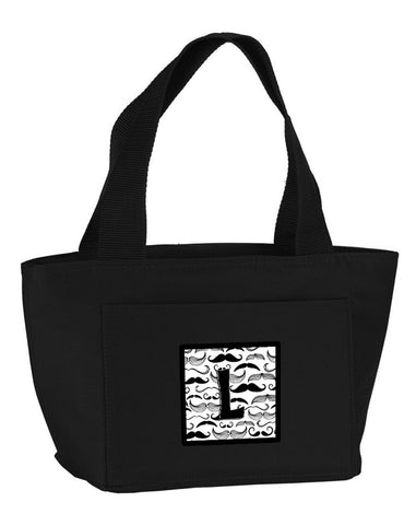 Buy this Letter L Moustache Initial Lunch Bag CJ2009-LBK-8808