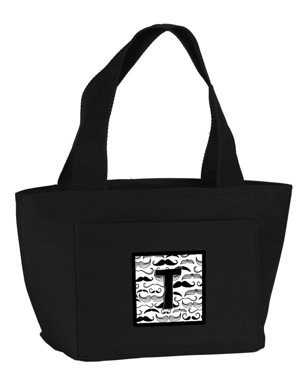 Letter T Moustache Initial Lunch Bag CJ2009-TBK-8808 by Caroline's Treasures