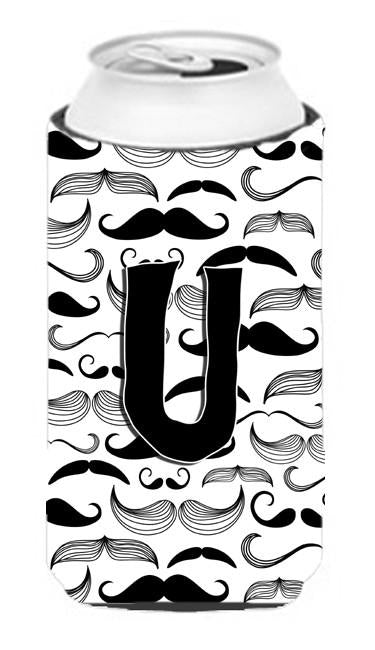 Buy this Letter U Moustache Initial Tall Boy Beverage Insulator Hugger CJ2009-UTBC