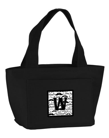 Buy this Letter W Moustache Initial Lunch Bag CJ2009-WBK-8808