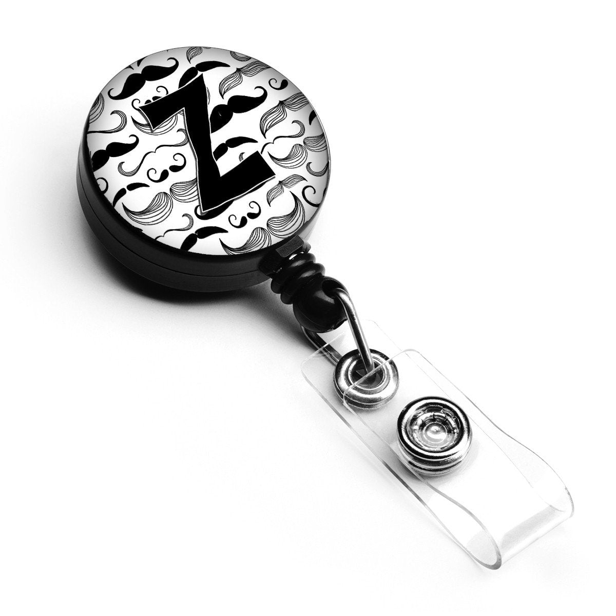 Letter Z Moustache Initial Retractable Badge Reel CJ2009-ZBR by Caroline's Treasures