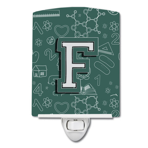 Buy this Letter F Back to School Initial Ceramic Night Light CJ2010-FCNL