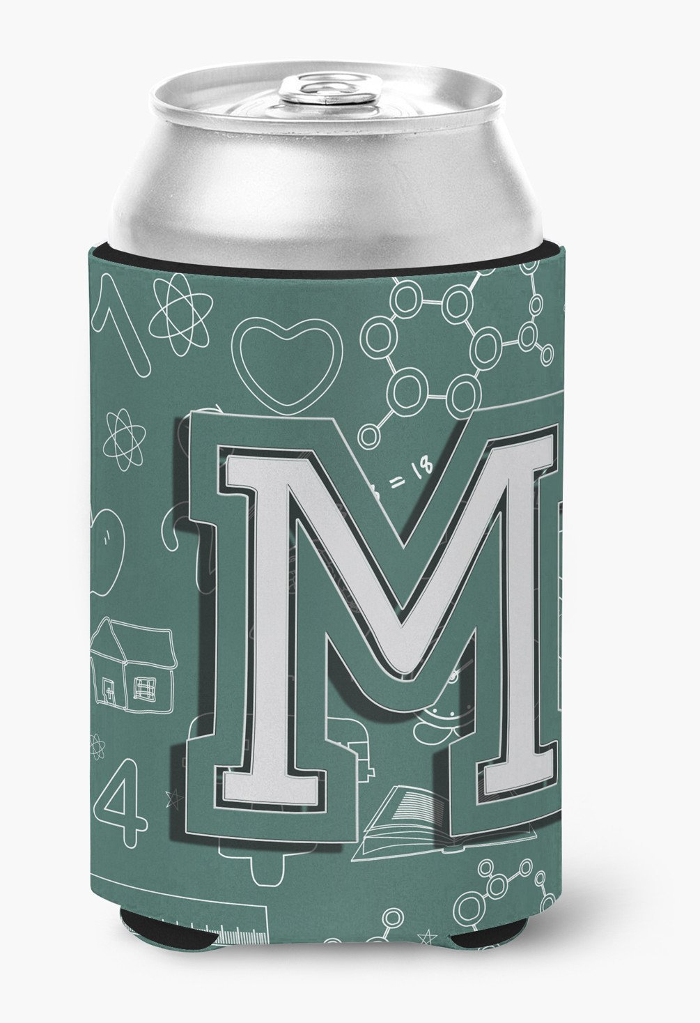 Letter M Back to School Initial Can or Bottle Hugger CJ2010-MCC by Caroline's Treasures