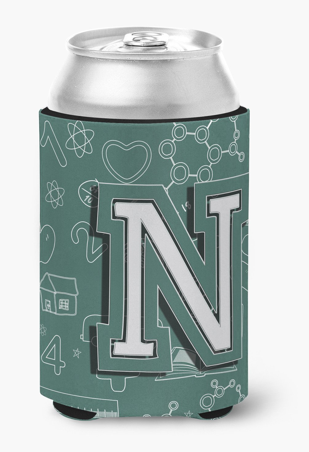 Letter N Back to School Initial Can or Bottle Hugger CJ2010-NCC by Caroline's Treasures