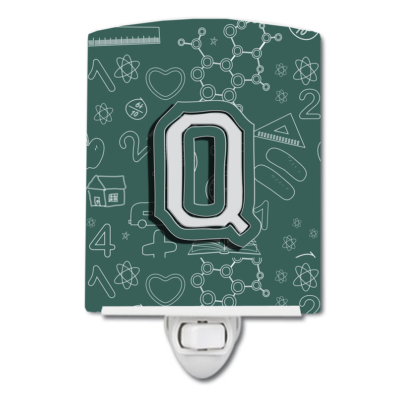 Buy this Letter Q Back to School Initial Ceramic Night Light CJ2010-QCNL