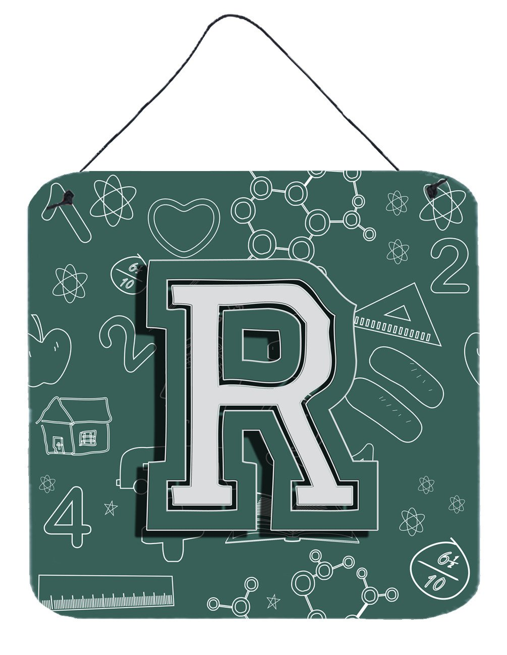 Letter R Back to School Initial Wall or Door Hanging Prints CJ2010-RDS66 by Caroline's Treasures