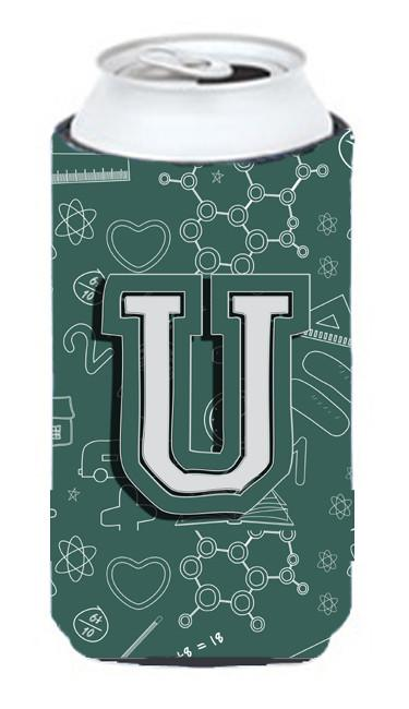 Buy this Letter U Back to School Initial Tall Boy Beverage Insulator Hugger CJ2010-UTBC