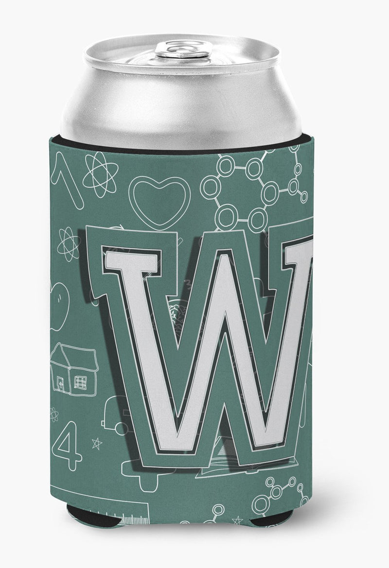 Buy this Letter W Back to School Initial Can or Bottle Hugger CJ2010-WCC