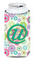 Buy this Letter U Flowers Pink Teal Green Initial Tall Boy Beverage Insulator Hugger CJ2011-UTBC
