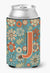 Buy this Letter J Flowers Retro Blue Can or Bottle Hugger CJ2012-JCC