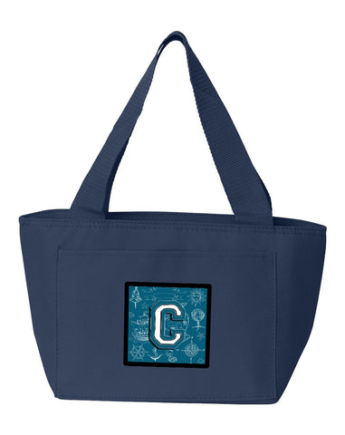 Buy this Letter C Sea Doodles Initial Alphabet Lunch Bag CJ2014-CNA-8808