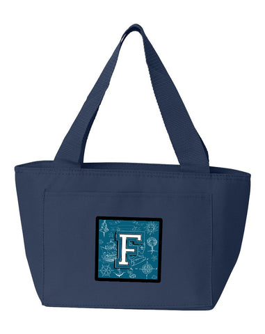 Buy this Letter F Sea Doodles Initial Alphabet Lunch Bag CJ2014-FNA-8808