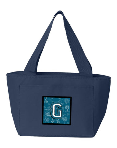 Buy this Letter G Sea Doodles Initial Alphabet Lunch Bag CJ2014-GNA-8808