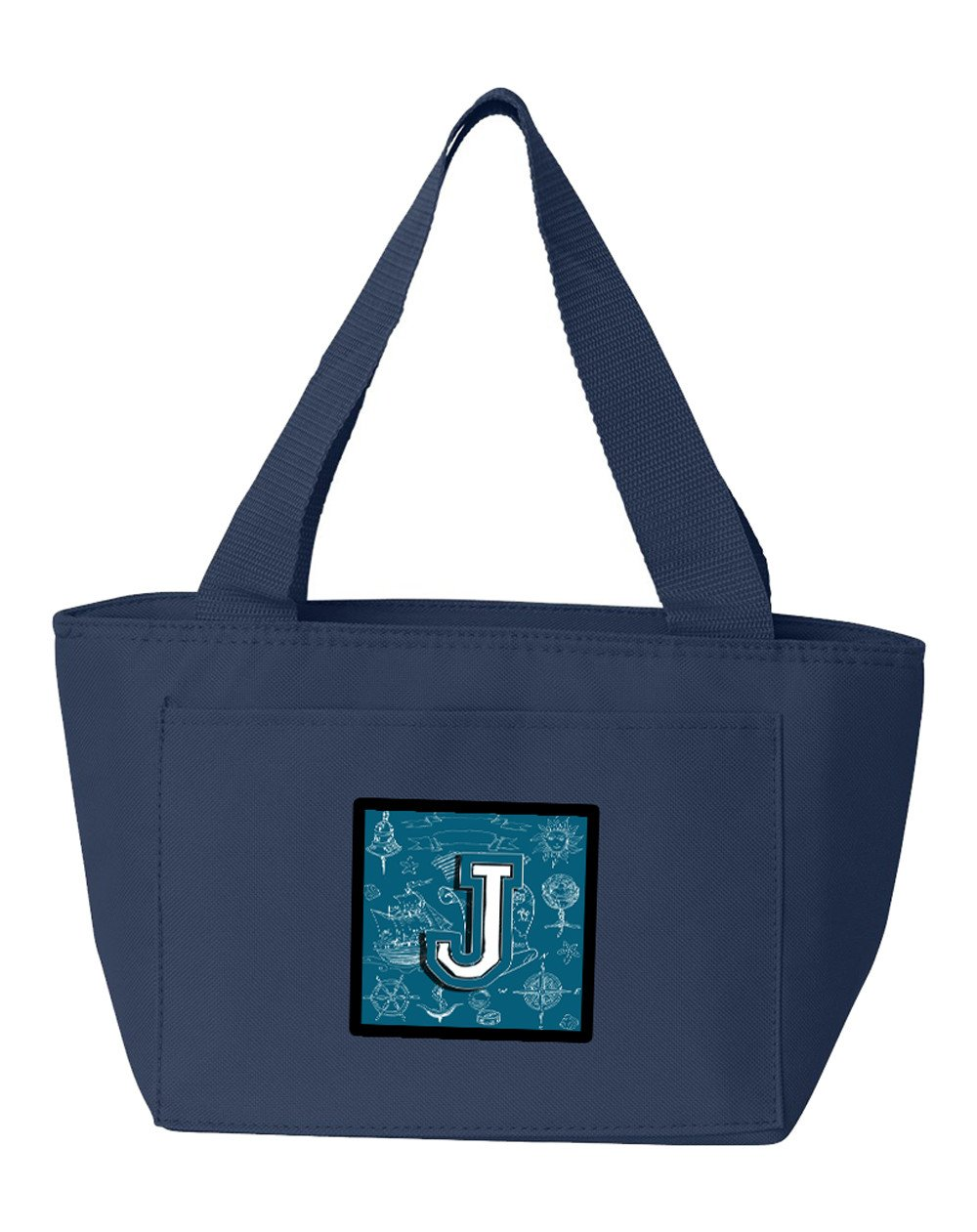 Letter J Sea Doodles Initial Alphabet Lunch Bag CJ2014-JNA-8808 by Caroline's Treasures