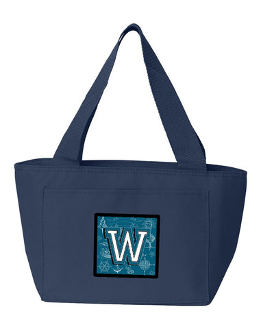 Buy this Letter W Sea Doodles Initial Alphabet Lunch Bag CJ2014-WNA-8808