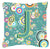 Buy this Letter J Circle Circle Teal Initial Alphabet Canvas Fabric Decorative Pillow