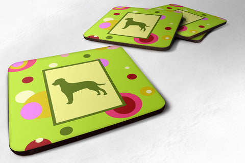Buy this Set of 4 Curly Coated Retriever Foam Coasters