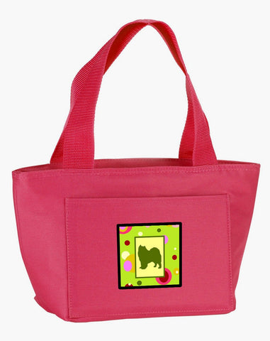 Buy this Lime Green Dots Samoyed Lunch Bag CK1093PK-8808