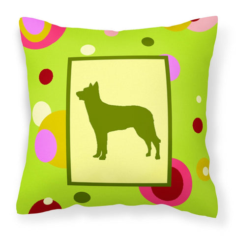 Buy this Lime Green Dots Beauceron  Fabric Decorative Pillow CK1113PW1414
