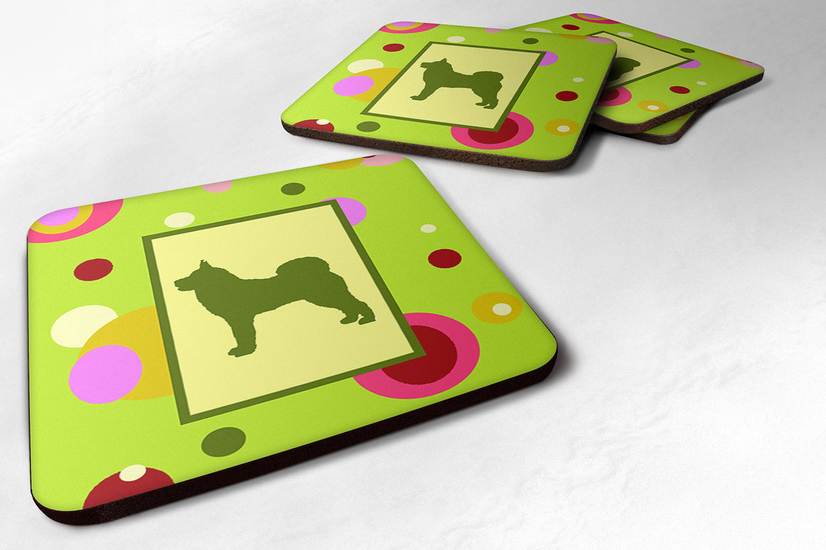 Buy this Set of 4 Karelian Bear Dog Foam Coasters