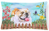 English Bulldog Spring Canvas Fabric Decorative Pillow CK1201PW1216 by Caroline's Treasures