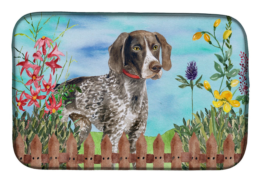 Buy this German Shorthaired Pointer Spring Dish Drying Mat CK1203DDM
