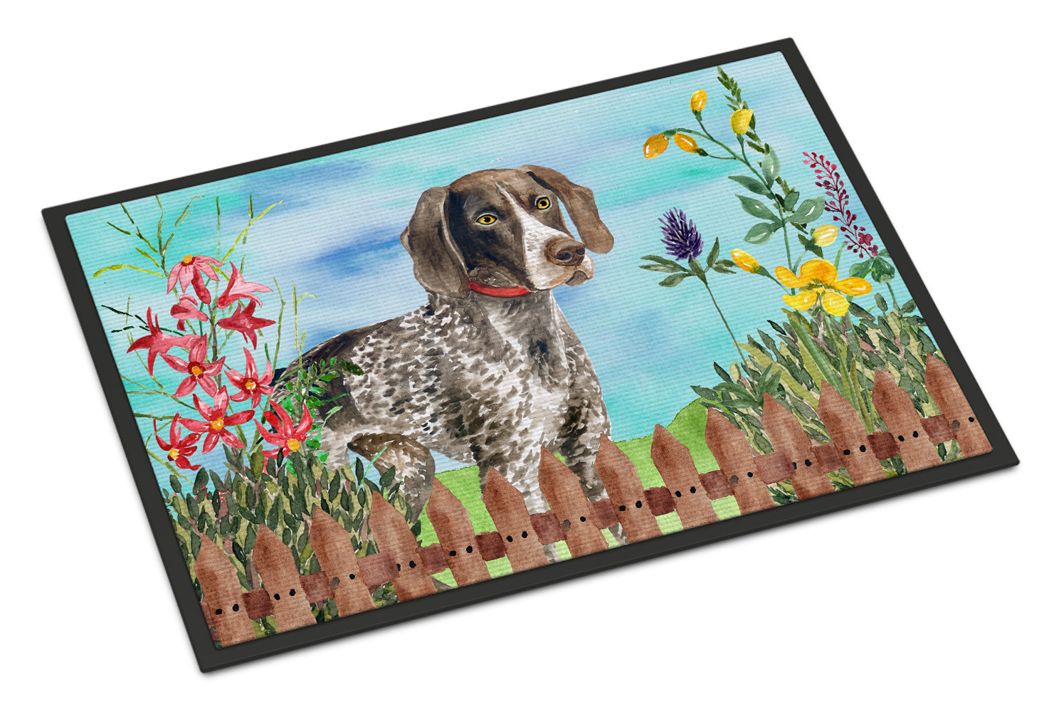 German Shorthaired Pointer Spring Indoor or Outdoor Mat 18x27 CK1203MAT by Caroline's Treasures