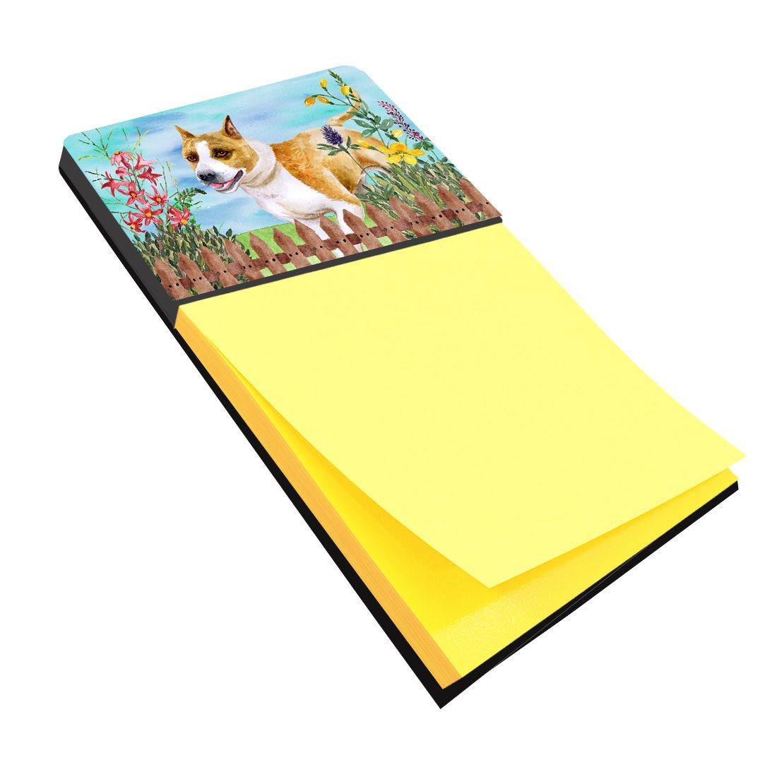 American Staffordshire Spring Sticky Note Holder CK1206SN by Caroline's Treasures